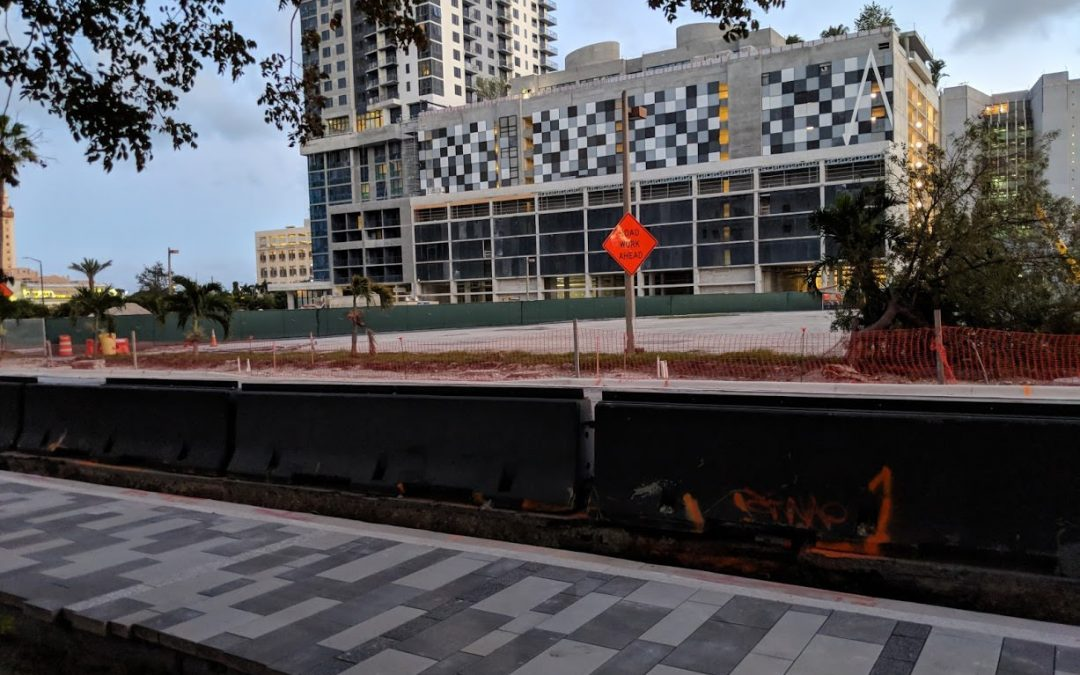 First Sidewalk Installed At Miami Worldcenter As Phase 1 Completion Nears