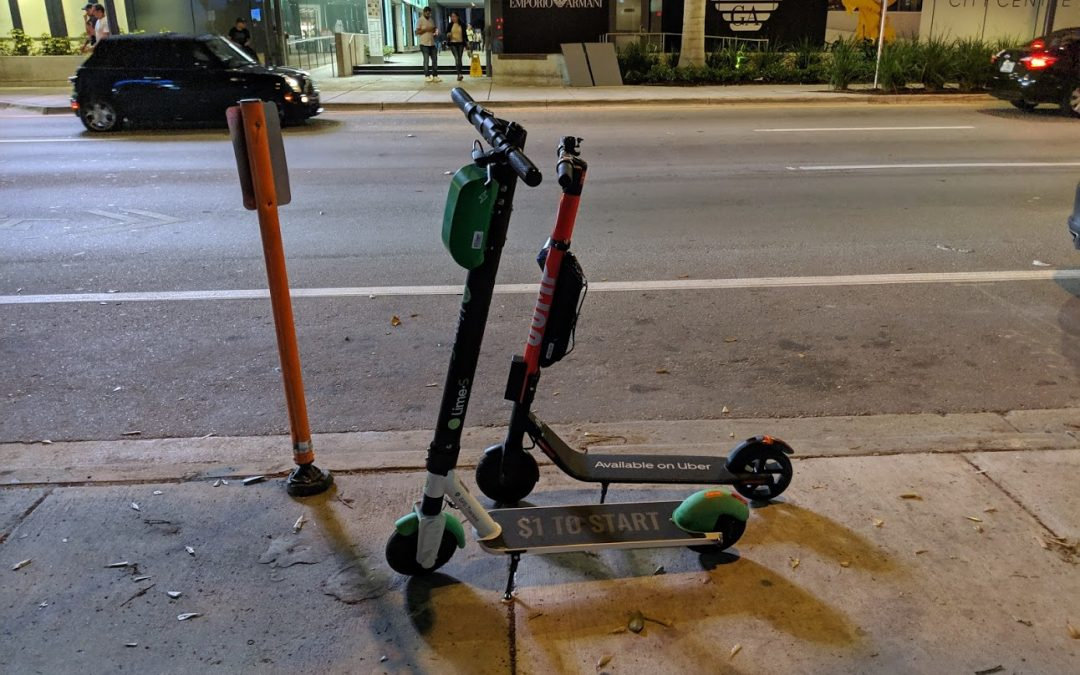 UP TO 300 ELECTRIC SCOOTERS ARE NOW ON DOWNTOWN MIAMI STREETS