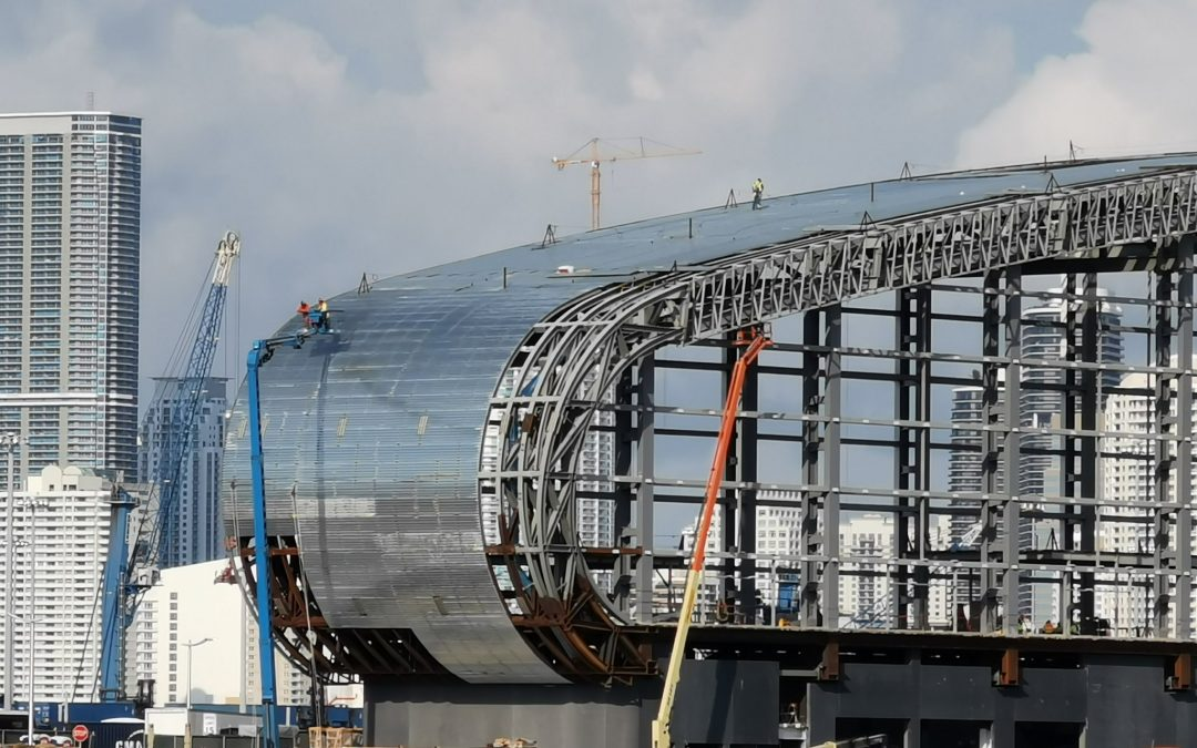 SKIN BEING INSTALLED AT NORWEGIAN'S 'ICONIC' $100M PEARL OF MIAMI CRUISE TERMINAL
