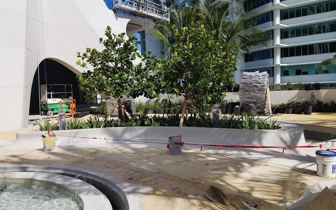 ZAHA HADID-DESIGNED POOL DECK NEARLY COMPLETE AT ONE THOUSAND MUSEUM SCORPION TOWER