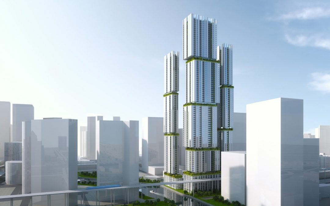 ARCHITECT REVEALS CONCEPT DESIGN FOR FOUR TOWERS AT 99 RIVERSIDE IN BRICKELL