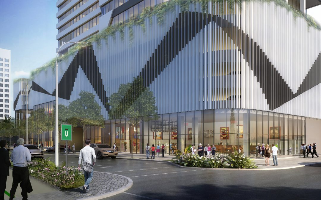 CONSTRUCTION UNDERWAY ON TOWER ACROSS FROM BRICKELL CITY CENTRE WITH TWO HOTELS, ROOFTOP LOUNGE