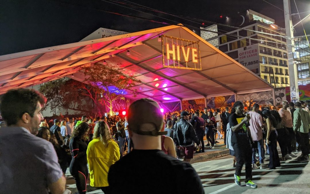 WYNWOOD CLOSED STREETS TO CAR TRAFFIC DURING ART WEEK 2019, THE BUSIEST EVER FOR THE NEIGHBORHOOD. HERE'S WHAT IT LOOKED LIKE
