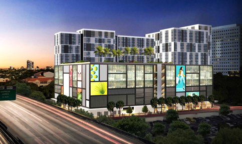 Target store signs for planned Overtown block